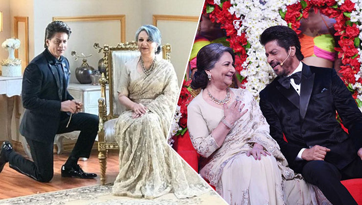 Watch: When SRK went down on his knees for Sharmila Tagore