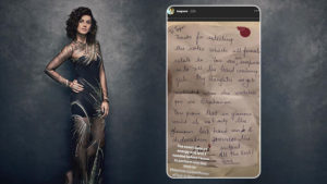 Taapsee Pannu note from fan
