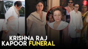 Alia Bhatt, Kareena Kapoor Khan, Amitabh Bachchan & others pay their last respect to Krishna Raj Kapoor