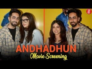 Bollywood celebs attend the special screening of Ayushmann Khurrana and Radhika Apte's 'AndhaDhun'