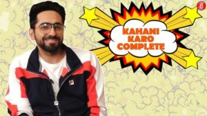 Ayushmann Khurrana engages in a game of 'Kahani Karo Complete' with a twist