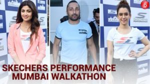 Shilpa Shetty, Sanya Malhotra and Rahul Bose walk for skechers performance 'Walkathon'