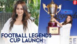 Watch: Gorgeous Sonakshi Sinha at the launch of Football Legends Cup