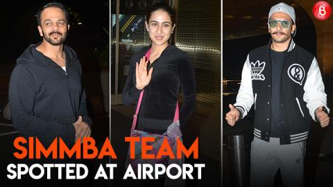 Team 'Simmba' spotted at the airport before flying to Switzerland for shoot