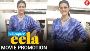 Kajol spotted at Sun N Sand for promotion of her movie 'Helicopter Eela'
