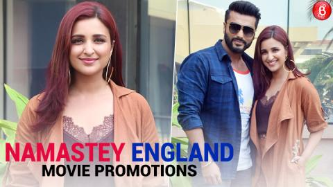 Spotted: Arjun Kapoor and Parineeti Chopra promote their upcoming movie 'Namaste England'
