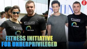 Sohail and Aayush at the fitness initiative by Yasmin Karachiwala for the underprivileged