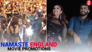 Arjun Kapoor and Parineeti Chopra promote their film 'Namaste England' in Vadodara