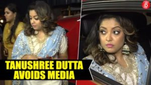 Tanushree Dutta avoids media interaction at her first appearance at a Navratri event