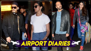 In pics: Ranveer Singh, Deepika Padukone and Sara Ali Khan get papped at the airport