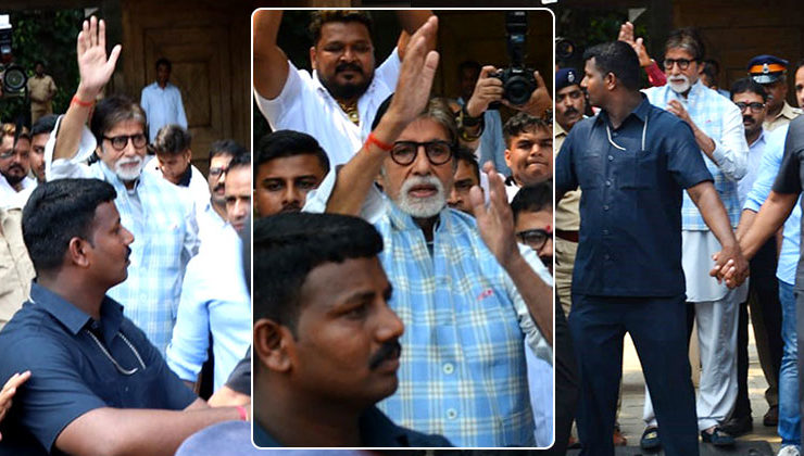 Amitabh Bachchan's birthday: Big B greets his fans outside his residence Jalsa
