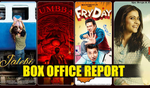 Box Office Reports: 'Helicopter Eela' and 'Tumbbad' show growth; 'Jalebi' and 'FryDay' make a slow start