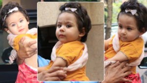 Cuteness Alert: Inaaya Naumi Kemmu looked adorable in her festive dress