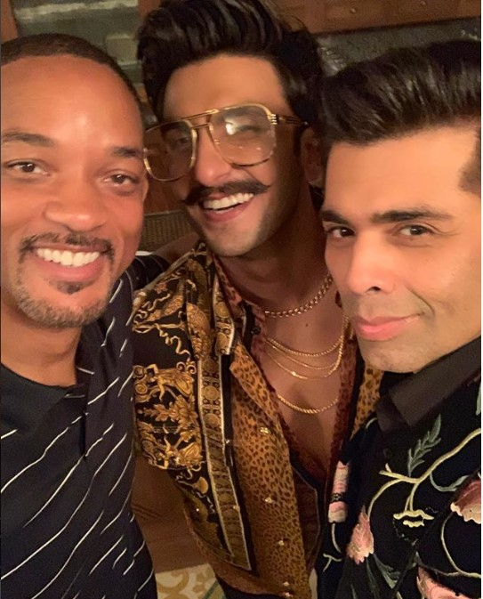 Will Smith, Ranveer Singh and Karan Johar