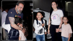 In pics: Sanjay Dutt shares an endearing moment with his twins Shahraan and Iqra on airport