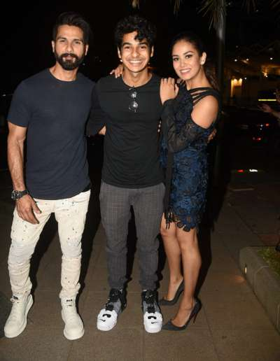 Ishaan with Shahid and Mira
