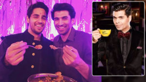 Sidharth Malhotra and Aditya Roy Kapur Koffee With Karan 6