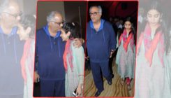 In Pics: Janhvi Kapoor shares a tender moment with father Boney Kapoor at an event