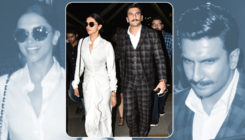 In pics: Ranveer Singh and Deepika walk hand-in-hand as they return from Delhi
