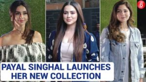 Shibani Dandekar and Sana Khan spotted at the launch of Payal Singhal's new collection