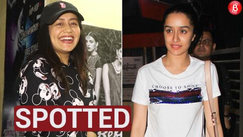 Shraddha Kapoor and Neha Kakkar spotted at Juhu PVR