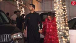 Pregnant Neha Dhupia with Husband Angad Bedi at Shilpa Shetty's Diwali Bash