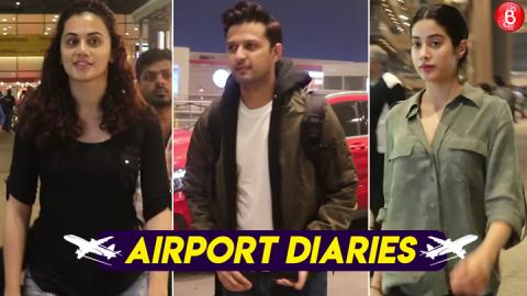 Taapsee Pannu, Vatsal, Janhvi and other celebs spotted at the Mumbai airport