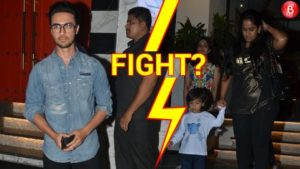 Aayush Sharma and Arpita spotted outside a restaurant in Mumbai
