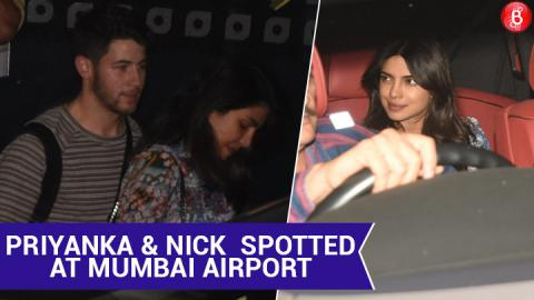 Priyanka Chopra and Nick Jonas arrive in Mumbai ahead of their wedding
