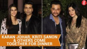 Karan Johar, Kriti Sanon and others come together for dinner at Soho House