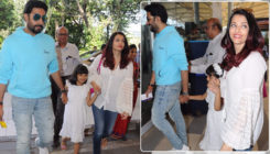 In pics: Birthday girl Aishwarya Rai Bachchan gets papped at the airport with Abhishek and Aaradhya