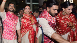 See Pics: The newlyweds Ranveer and Deepika arrive at the Mumbai airport