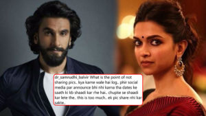 DeepVeer Wedding: Fans are upset of Ranveer-Deepika; here's what they have to say