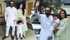 In Pics: Taimur looks adorable in traditional wear as he steps out with parents Saif and Kareena