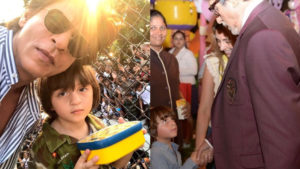SRK and AbRam Amitabh