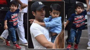 In Pics: BFFs Taimur and Laksshya Kapoor spotted on a playdate