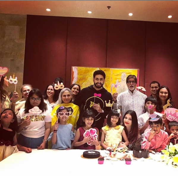 Aaradhya Bachchan with family and friends
