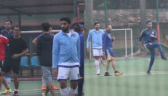 In Pics: Ranbir, Abhishek, and Dhoni spotted practicing for a football match
