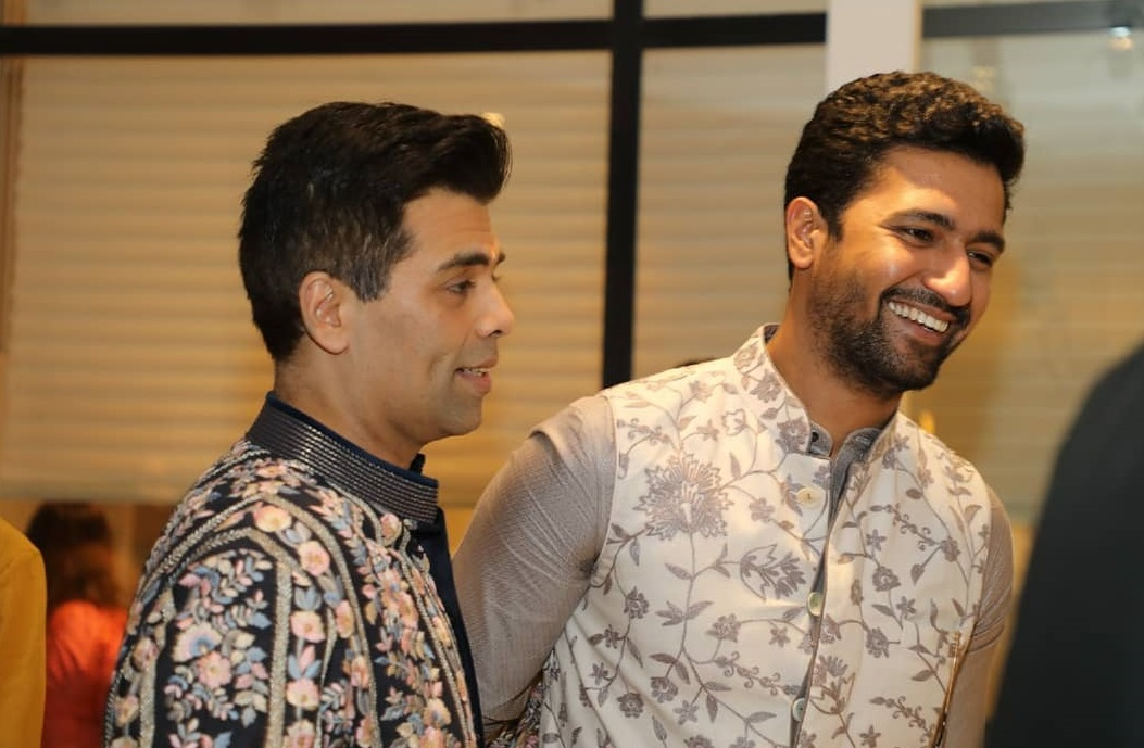 Vicky Kaushal and Karan Johar
