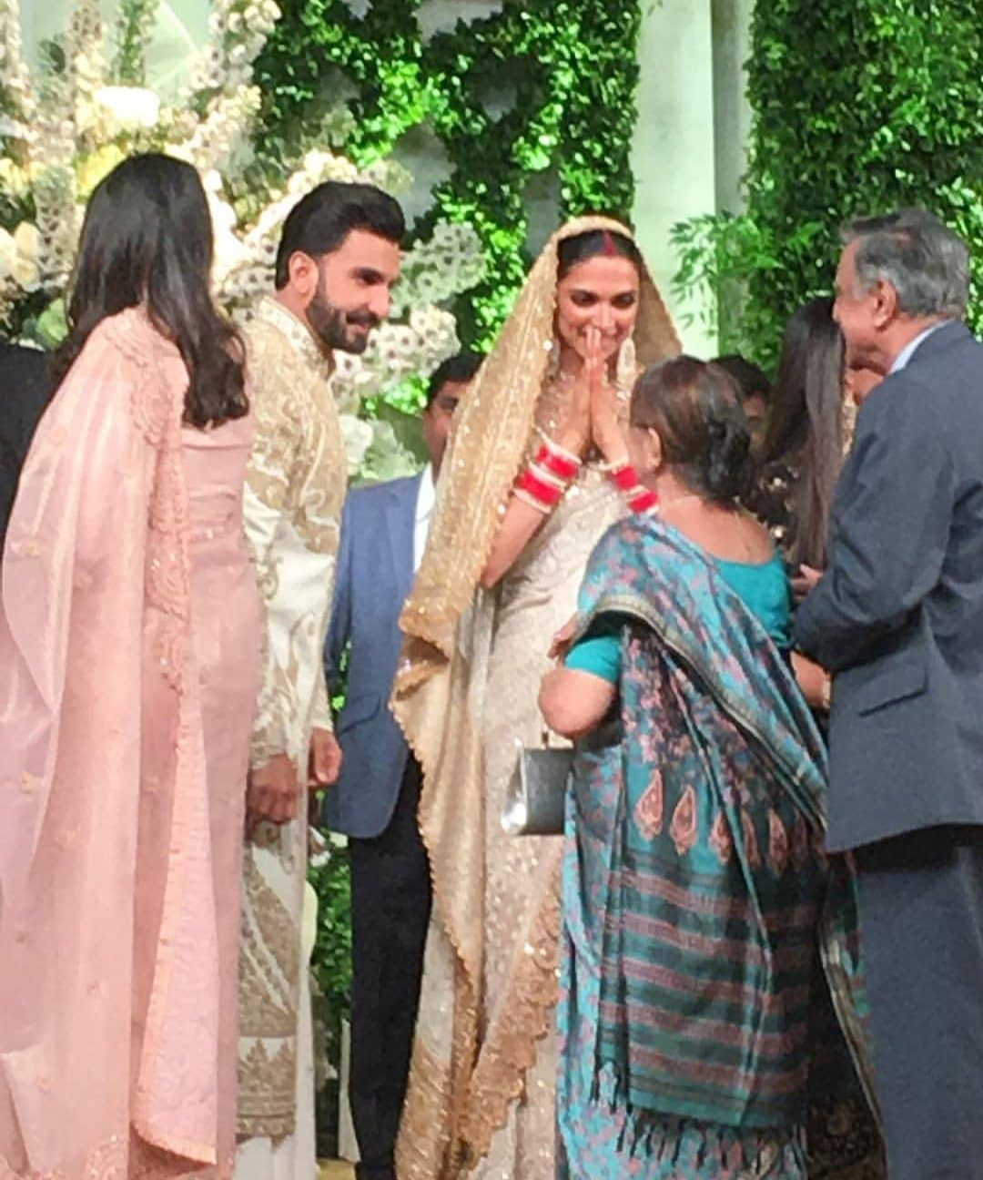 Deepika was all smiles at the reception