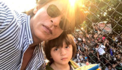 Watch: Shah Rukh Khan's son AbRam shouts at paparazzi and says