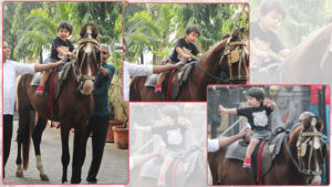 In pics: Taimur enjoying a horse riding session is the cutest thing you will see today