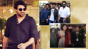 Prabhas, Rana Daggubati, and Anushka Shetty SS Rajamouli Son Wedding