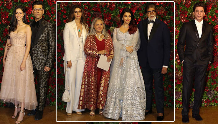 In Pics: Bachchans, Shah Rukh, KJo and others make a dazzling appearance at DeepVeer's party