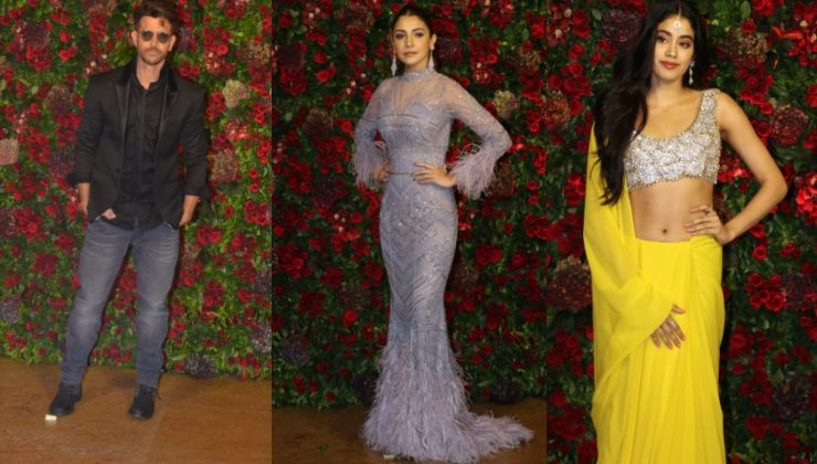 In Pics: Hrithik Roshan, Janhvi Kapoor, Anushka and others at DeepVeer's party
