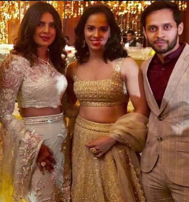PeeCee with Saina Nehwal and Parupalli Kashyap