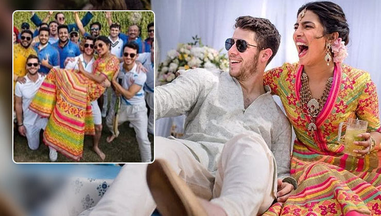 View pic! Amidst their wedding ceremonies, NickYanka played a friendly Groom Vs Bride cricket match