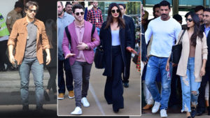 In Pics: Priyanka, Nick, Varun and others leave for Isha Ambani's wedding ceremonies