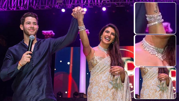 Here are all the glittery details of Priyanka and Nick's outfits from their sangeet ceremony