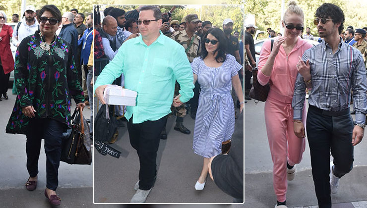 In Pics: Chopra and Jonas family leave Jodhpur post Priyanka and Nick wedding
